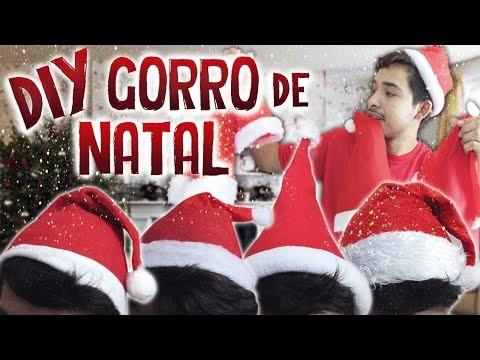 DIY GORRO, TOUCA DE NATAL Faça você mesmo | Aprenda com Edu