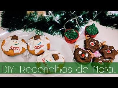 DIY ♡ RECEITINHAS DE NATAL (Cupcake, Gingerbread Man, Donut)✽