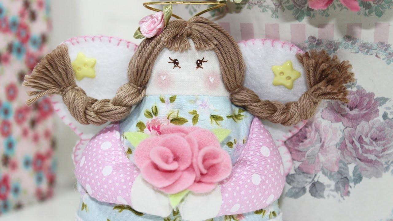 Artesanato Tecido -  Como Fazer Bonecas de Pano ( Parte 2 ) -  Segredos de Aline