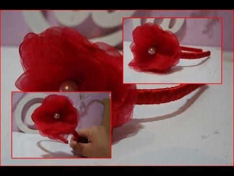 DIY:Arco de cabelo com flor