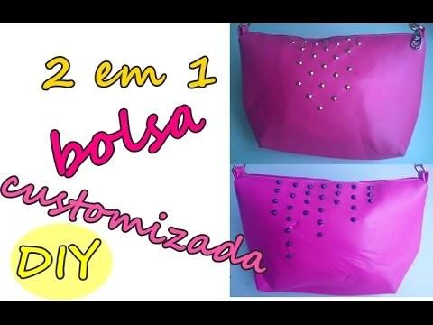 DIY: BOLSA CUSTOMIZADA 2 em 1