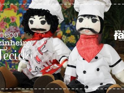 DIY - Boneco cozinheiro em tecido (Luciana Castelli)
