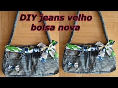 DIY Calça velha bolsa nova por janaina pauferro