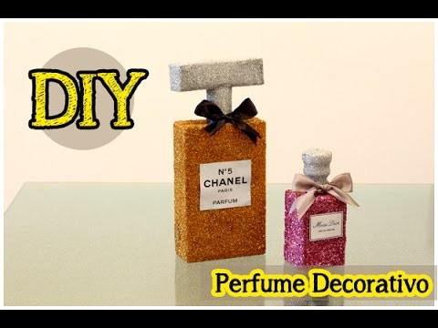 DIY: Perfume Decorativo | Perfume de Glitter | Chanel N 5 | Decor #tododia27