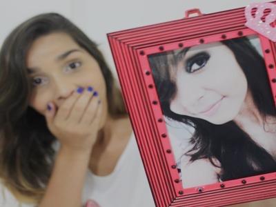 DIY: Porta retrato com moldura de espelho velho. #FALTADOQUEFAZER | Stefany Rago
