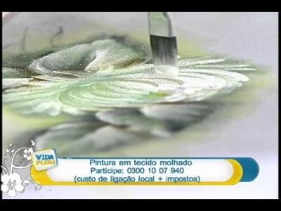 Artesanato - Pintura em tecido molhado