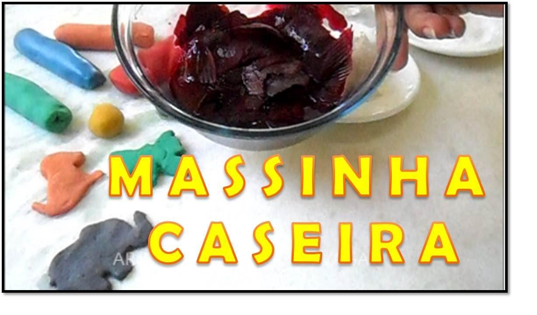 COMO FAZER :  Massinha de Modelar Caseira, diy - Artesanato Fácil. (Corante Natural)