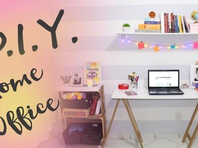 D.I.Y.  Como montei meu home office sem gastar muito.
