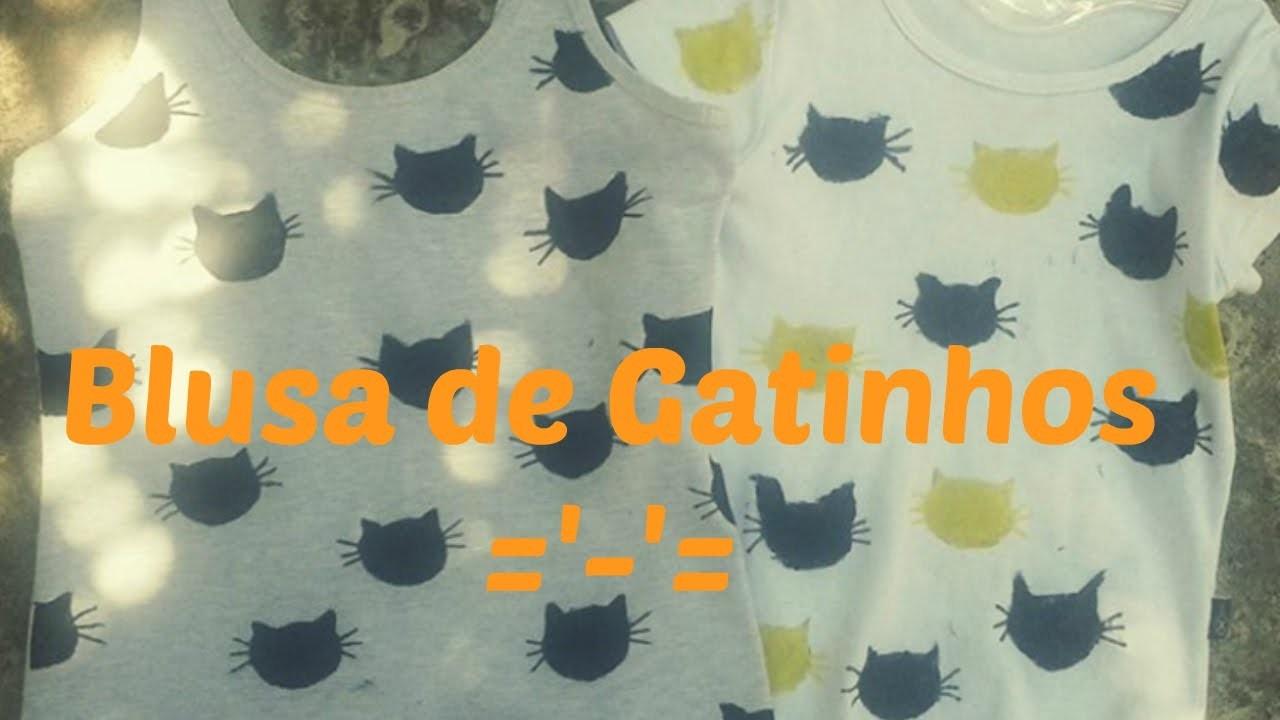 DIY - Blusa de Gatinhos