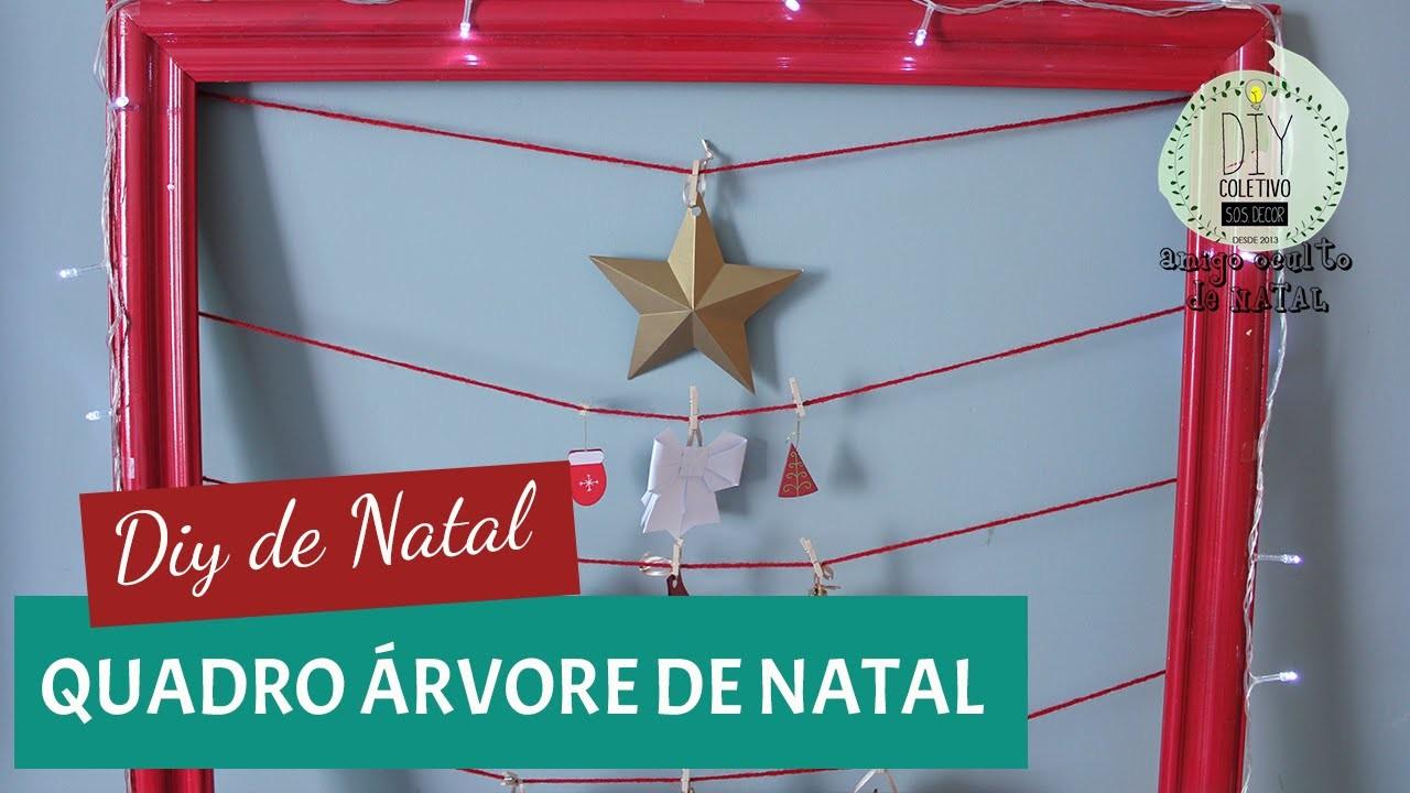 DIY DE NATAL + AMIGO SECRETO   Moldura árvore de natal   GavetaMix