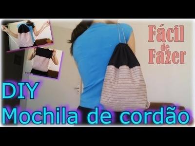 DIY Mochila de Cordão (FÁCIL)