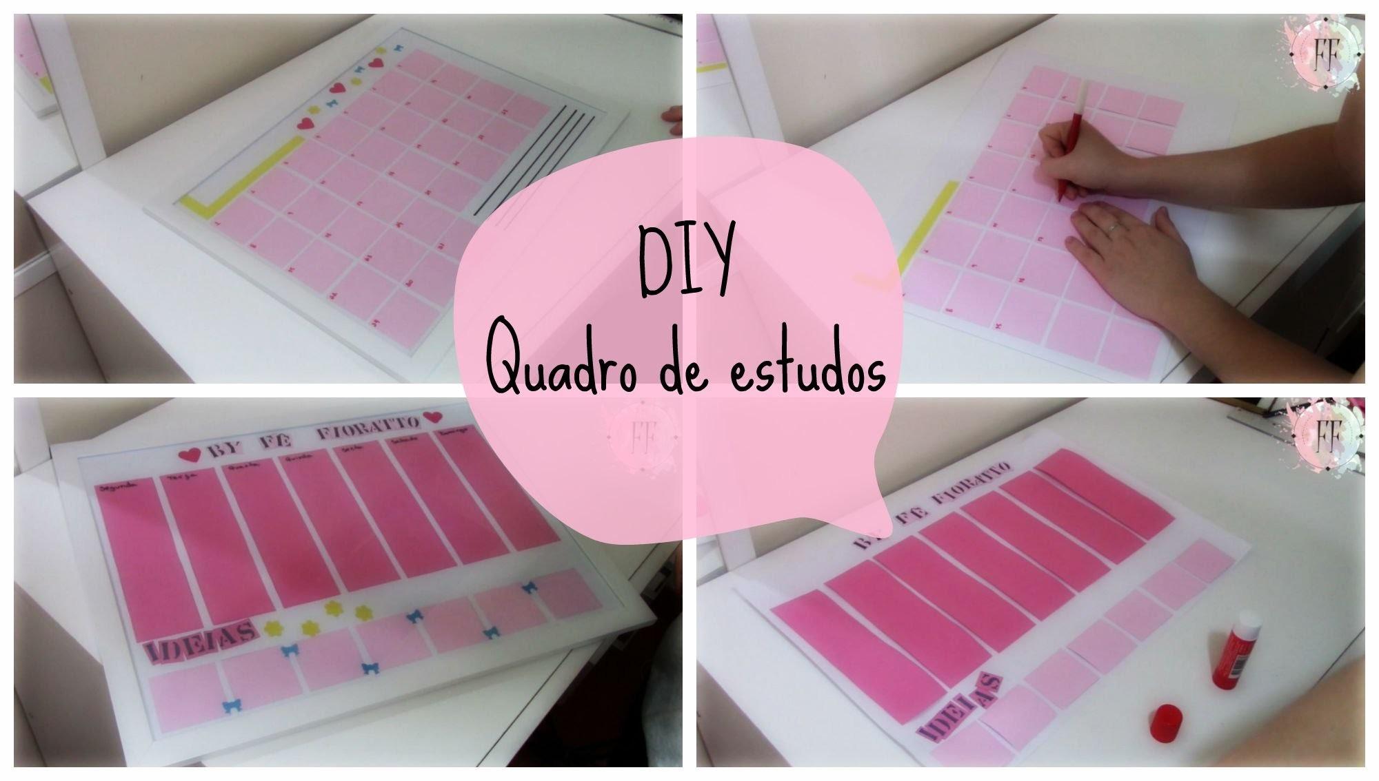 DIY | quadro de estudos | + diy extra