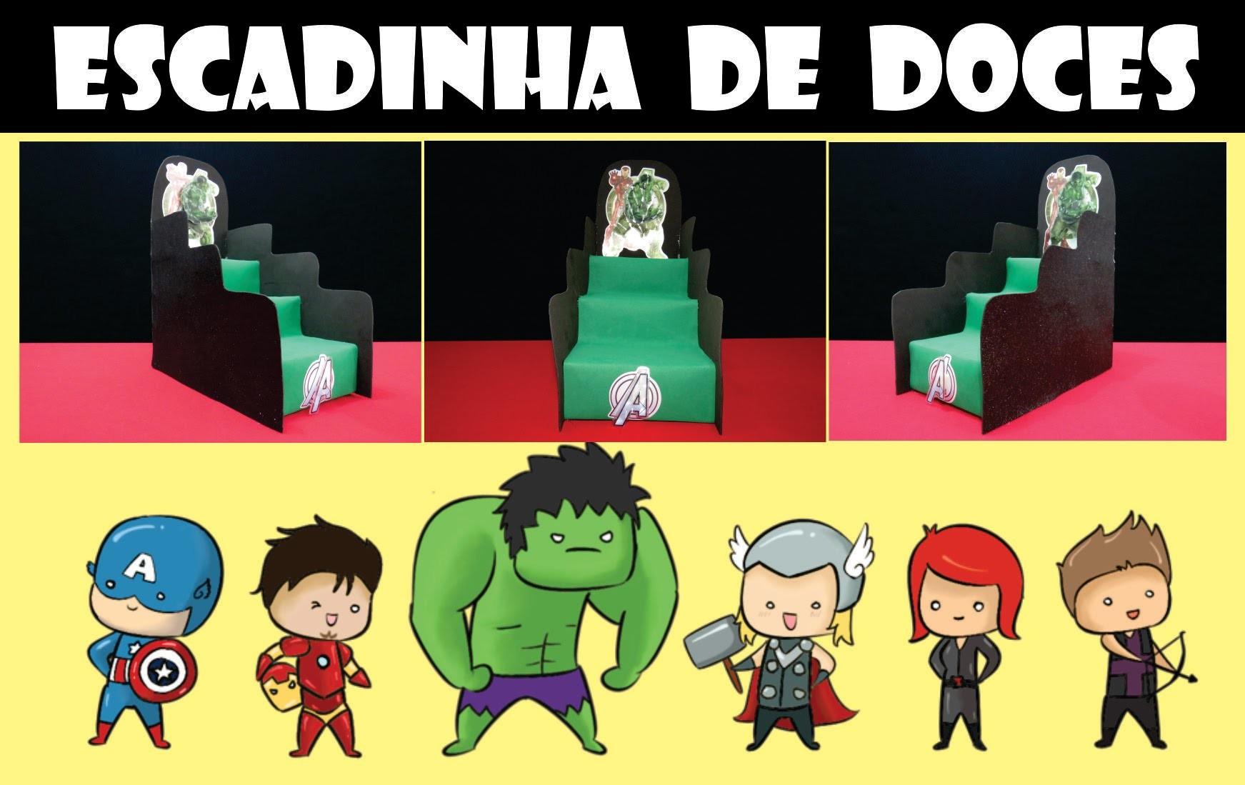 ESCADINHA DECORATIVA DE DOCES (VINGADORES) (DIY)