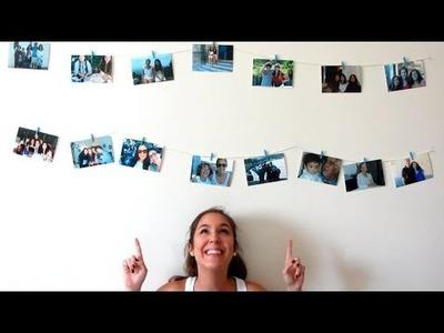 DIY - Decoração com Fotografias Penduradas na Parede