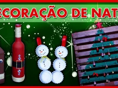 DIY Decoração de Natal com Material Reciclavel - 3 Ideias