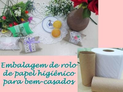 DIY - embalagem com rolo de papel higiênico para bem casados