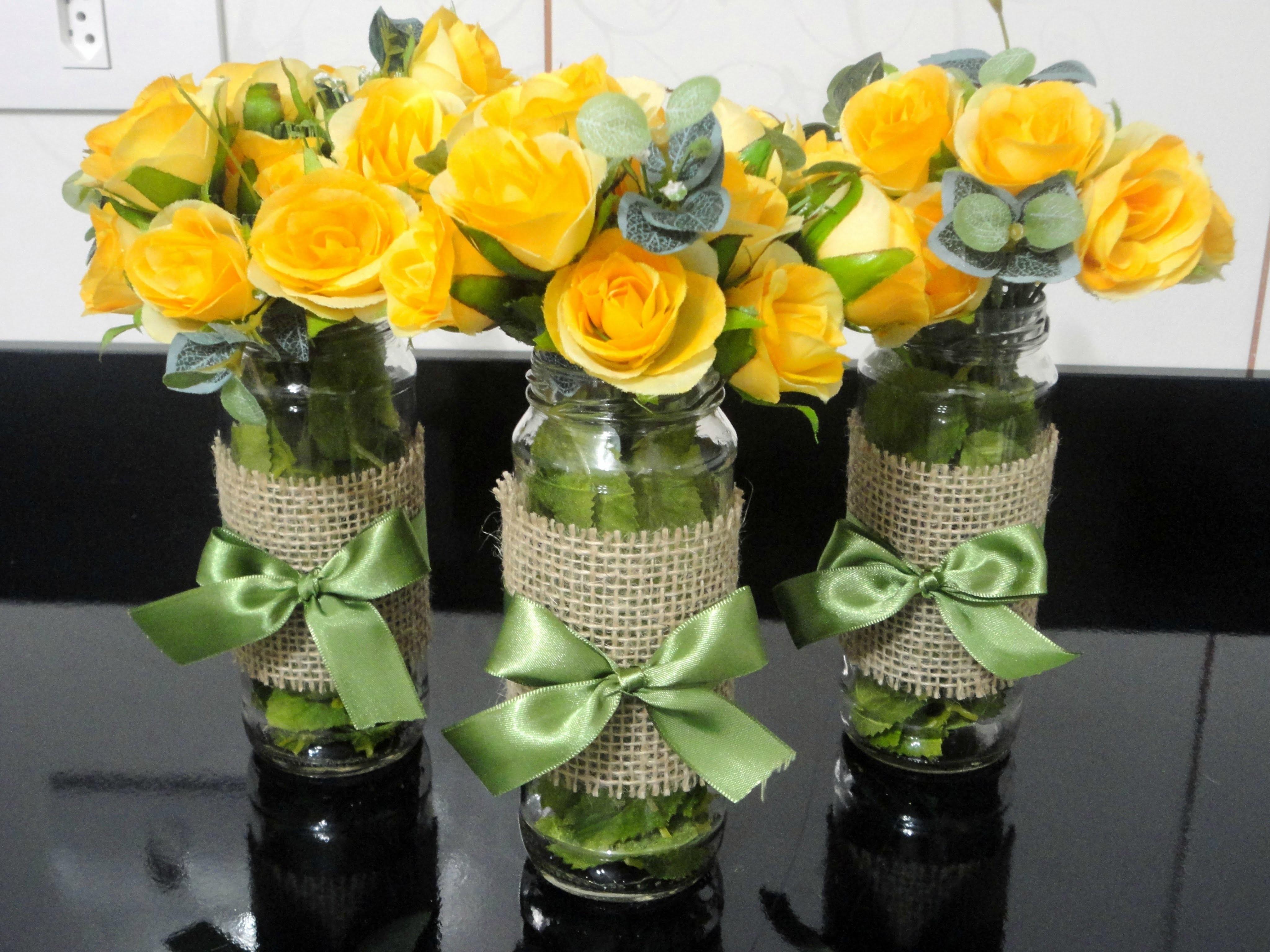 DIY - Vaso para arranjo de mesa
