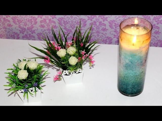 DIY - Vasos de flores artificiais para decoração. cenário de vídeos | Por Tuka Sampaio ♡