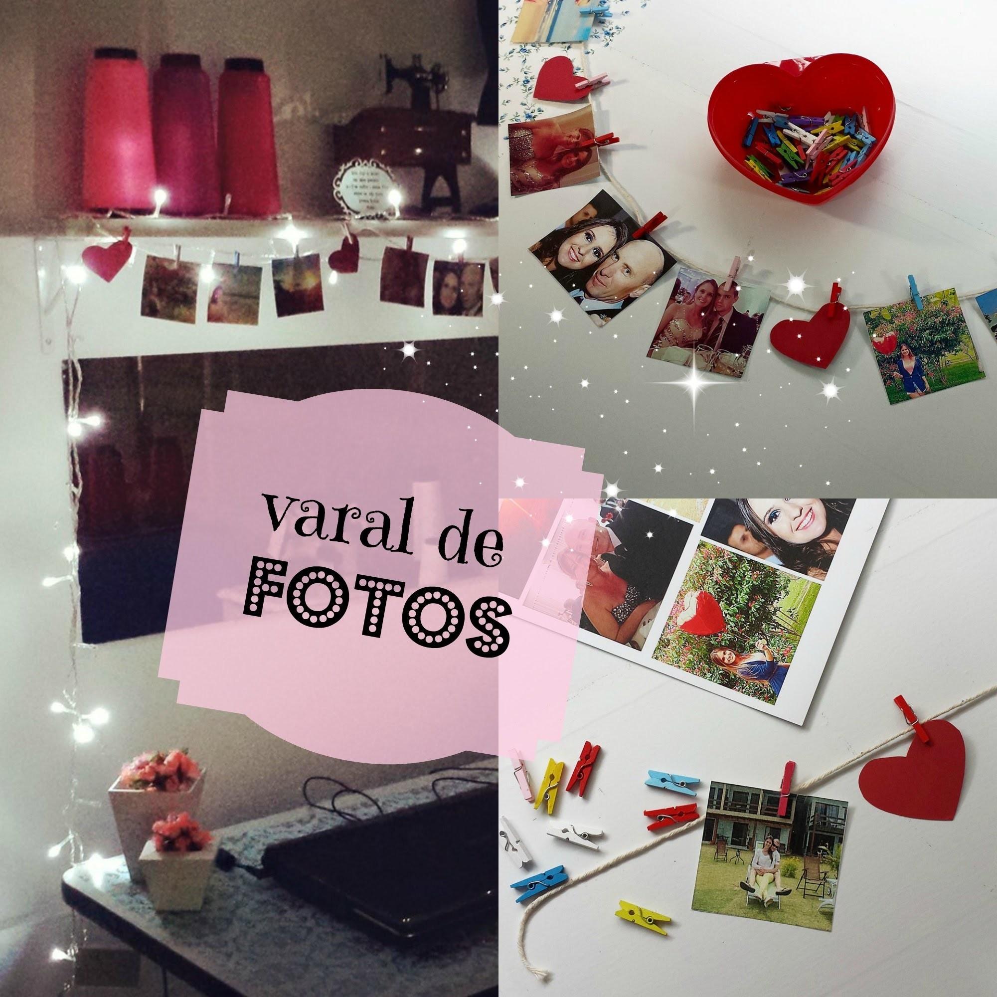Varal de Fotos ♥ Faça Você Mesmo || DIY