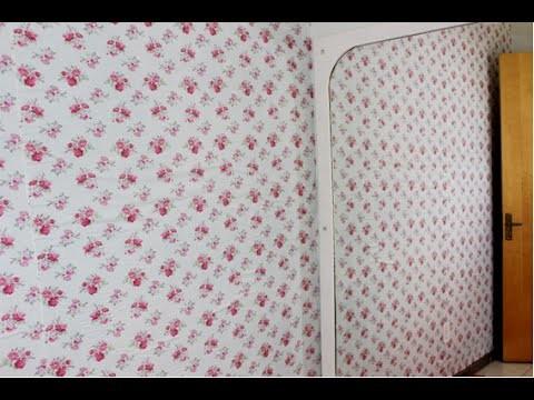 DIY: Como colar tecido na parede por Samara Bogoni
