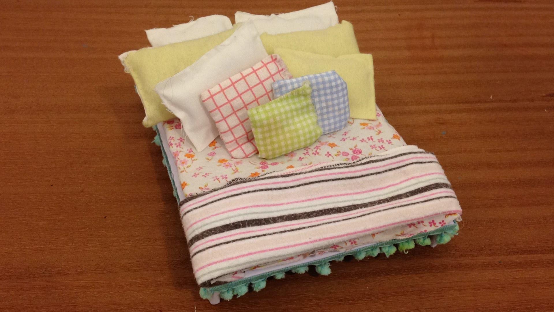 DIY - Como fazer uma cama para bonecas 2