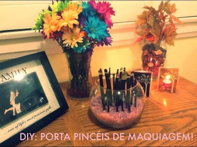 DIY: Porta Pincéis de Maquiagem