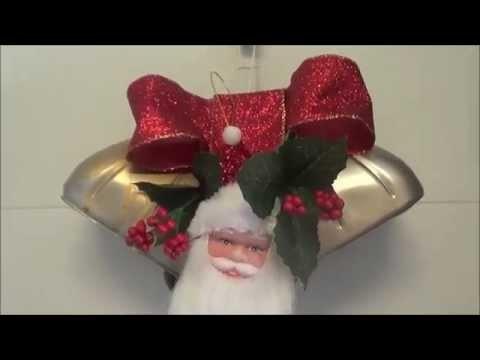 DIY saiba como fazer decoração de natal sinos feito com pet 9