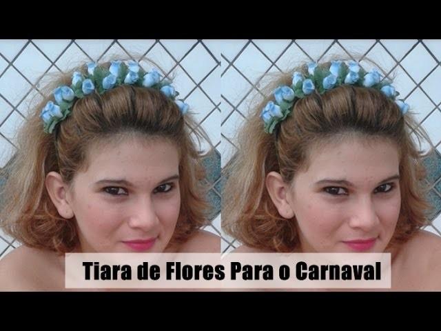 DIY: Como fazer tiara de flores | By Norma Mesquita