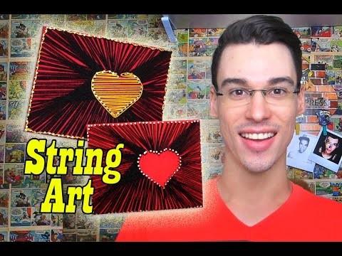 DIY Como fazer um  String Art  Canal Monarca