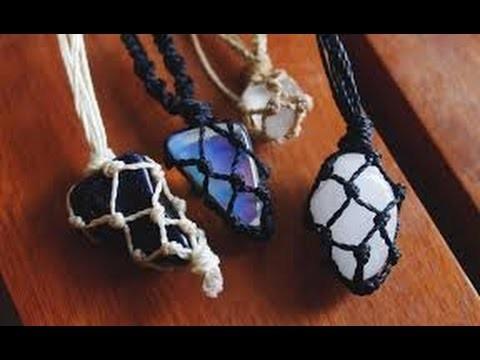 DIY - cordão de linha e pedra
