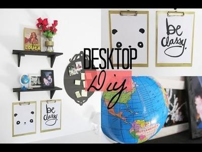 DIY - Desktop (painel decorativo, prateleiras, quadros e muito mais)