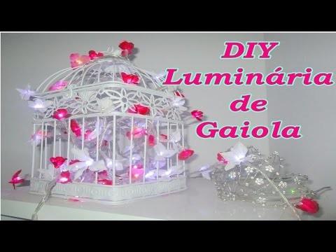 Diy Luminária de Gaiola. Bird Cage DIY