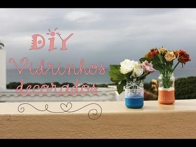DIY Casamento: Vidros decorados | Decoração de casamento simples