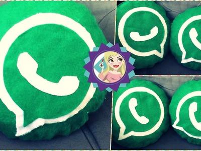 Diy Como fazer Almofada do WhatsApp Faça Você mesmo|Tatiane Xavier