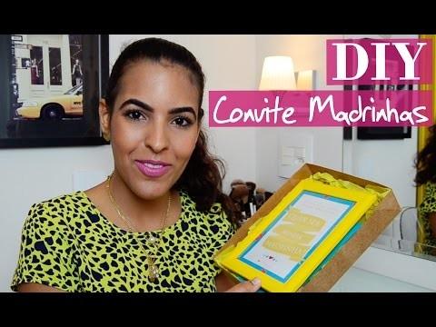 DIY   Como fazer convite para Madrinhas e Padrinhos (Sem tutorial!)