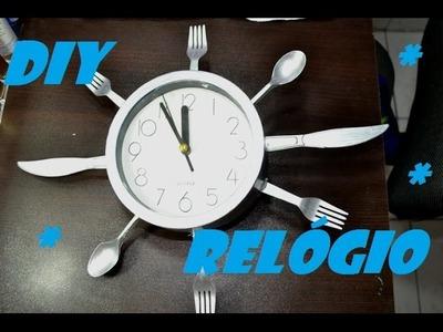 DIY Relógio de talheres (faça você mesma)