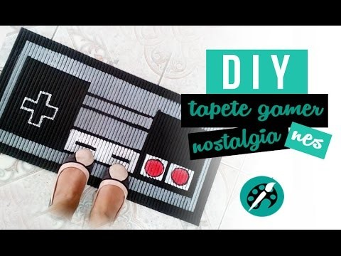 DIY TAPETE CONTROLE NES ❤ GEEK TUTORIAIS