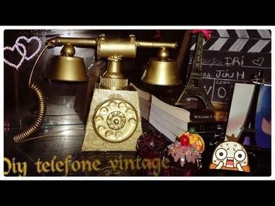 DIY telefone vintage fácil e lindooo #dolixoaoluxo