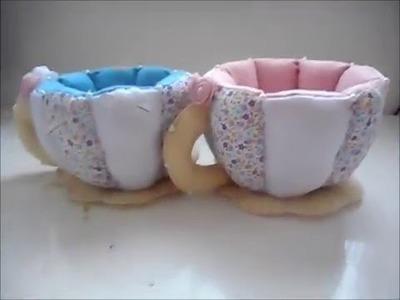 DIY: Xícara de tecido