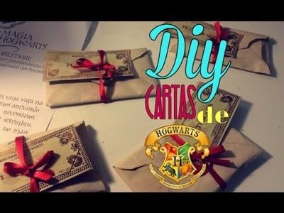 Não são apenas livros - DIY : Cartas de Hogwarts