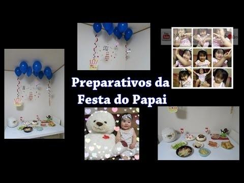 Preparativos: Niver do Papai - DIY - App Fotos - Doces - Faça vc mesma