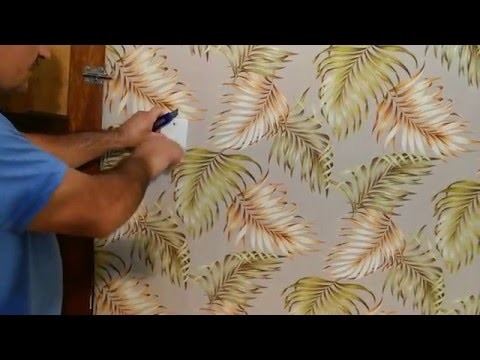 Diy colocar tecido na parede, e muito shou - 벽에 패