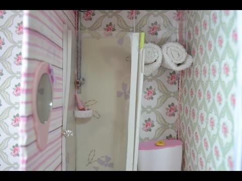 DIY: Como fazer um banheiro box para a boneca Barbie