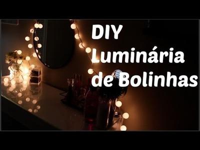 DIY - Luminária de bolinhas -  Faça você mesmo