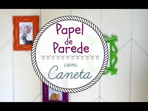 PAPEL DE PAREDE COM CANETA D.I.Y. | #POCFazendoArte Ep. 18