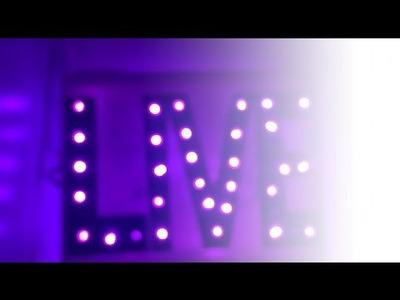 #SETEMBRODECOR: Quadro iluminado | DIY