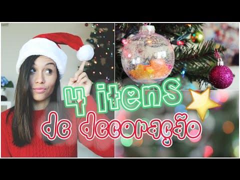 4 DIY´S PRA DECORAR A CASA PRO NATAL ♡ #4em1