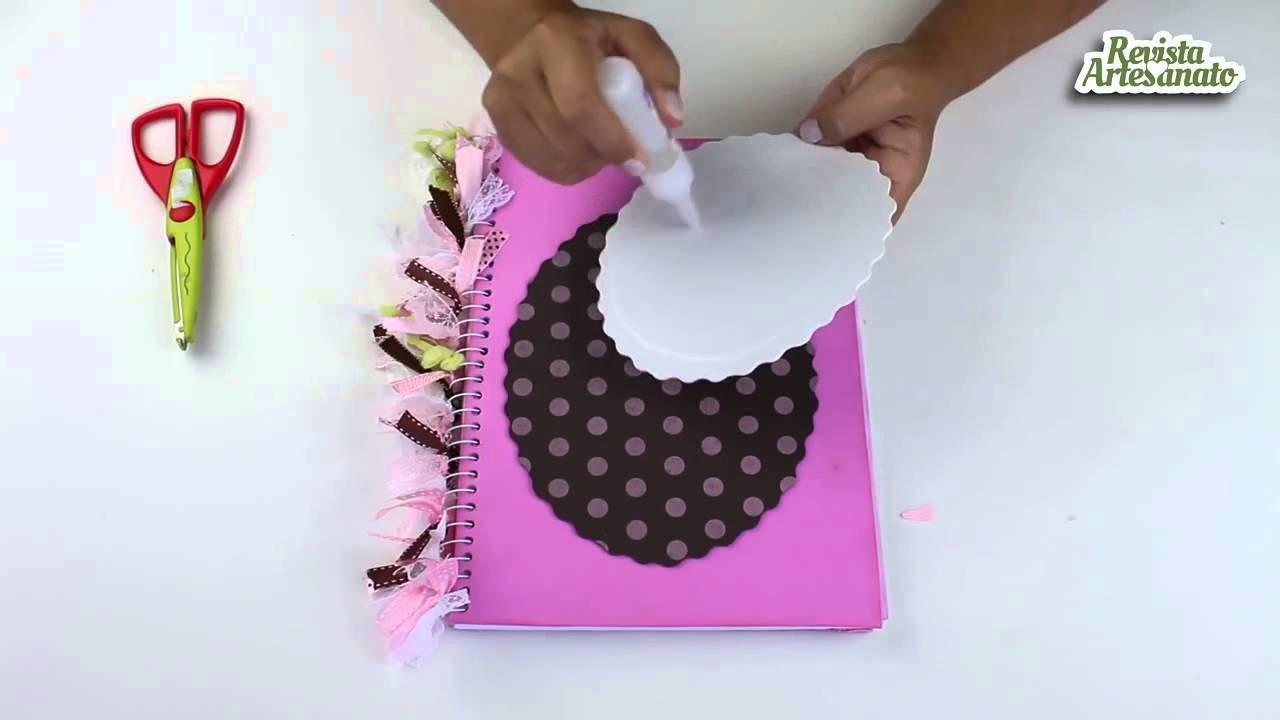 Capa de Caderno em EVA 3D - Passo a Passo - Artesanato