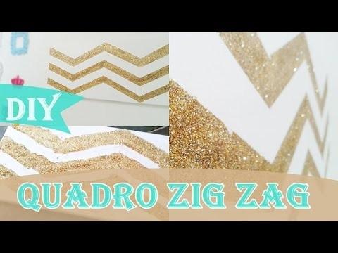 DIY: Decorando o quarto ♥ Quadro ZIG ZAG Fashion