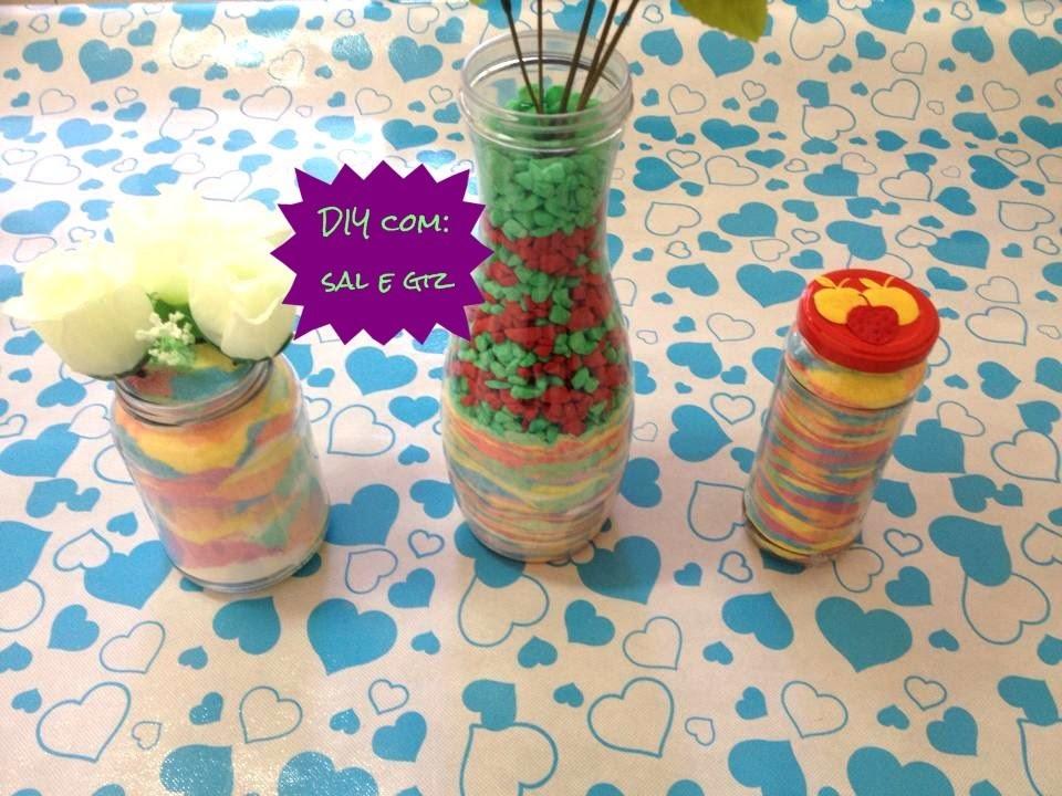 DIY: Potes decorados com SAL colorido (GIZ).